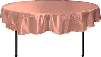 LA Linen Bridal Satin Round Tablecloth, 72-Inch, Dusty Rose