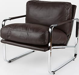 Whiteline Magi Arm Chair with Chrome Frame Gray Leatherette - CH1071P-GRY