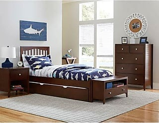 Hillsdale Furniture 32012NT Pulse Mission Bed with Trundle Full Chocolate