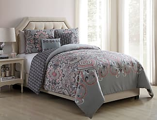 VCNY Amherst Boho Medallion Reversible Comforter Set by VCNY Home Blush/Grey, Size: Full/Queen - AMH-5CS-FUQU-KO-0A