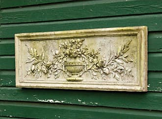 Orlandi Statuary Rose Urn Relief 33 in. Outdoor Wall Art - FS7285