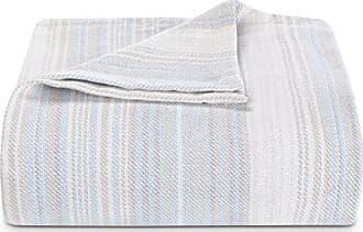 Revman International Tommy Bahama Sandy Shore Stripe Bed Blanket, King, Turquoise