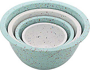 Zak designs ZAK Designs 4-Pc. Nested Mixing Bowl Set, Mint & White