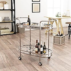 Christopher Knight Home 304465 Michelle Modern Iron and Glass Bar Cart, Silver