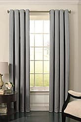 Ellery Homestyles BEAUTYREST Blackout Curtains for Bedroom - Malbrouk 52 x 84 Insulated Darkening Single Panel Grommet Top Window Treatment Living Room, Smoke