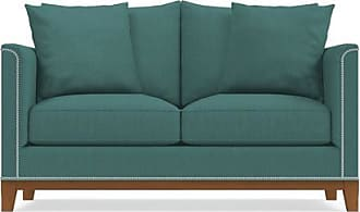 Apt2B La Brea Twin Size Sleeper Sofa - Leg Finish: Pecan - Sleeper Option: Deluxe Innerspring Mattress - Teal Poly Blend - Sold by Apt2B - Modern Couch