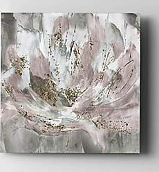 WEXFORD HOME Blush Flower Power Gallery Wrapped Canvas Wall Art, 40x40