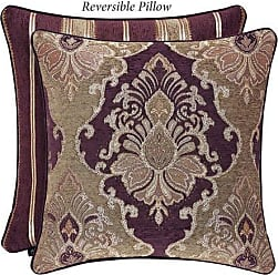 Five Queens Court Albina 20 Square Decorative Throw Pillow, Purple, 20x20