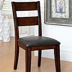 FURNITURE OF AMERICA 24/7 Shop at Home 247SHOPATHOME IDF-3187SC Dining-Chairs, Cherry