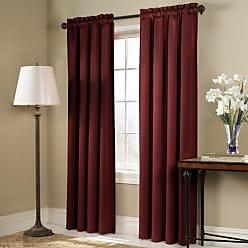 United Curtain Blackstone Blackout Window Curtain Panel, 54 by 84-Inch, Brick