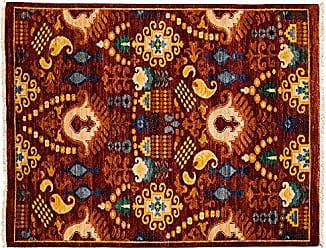 Solo Rugs Suzani Hand Knotted Area Rug 4 7 x 6 0 Red