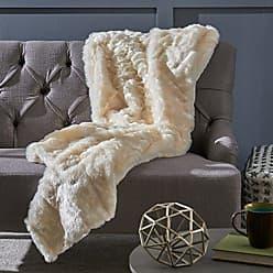 Christopher Knight Home Laraine Furry Glam White Faux Fur Throw Blanket