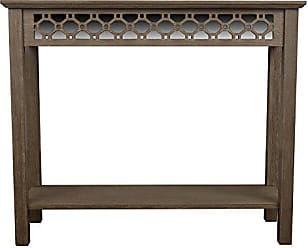 Decor Therapy Mirrored Console Table, Winter Wood