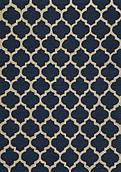Momeni Rugs GEO00GEO-4NVY3656 Geo Collection, Hand Hooked Contemporary Area Rug, 36 x 56, Navy Blue