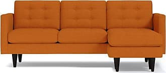 Apt2B Lexington Reversible Chaise Sofa - Leg Finish: Espresso - Orange Poly Blend - Sold by Apt2B - Modern Couch Made in the USA