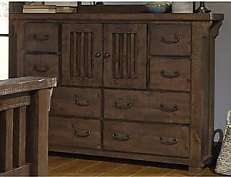 Progressive Furniture B631-24 Forrester Door Dresser, Tobacco