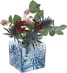 Dartington Crystal Flower Garden Follaje Jarr/ón Transparente