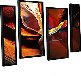 ArtWall 4 Piece Linda Parkers Slot Canyon Light from Above 2 Floater Framed Canvas Artwork, 24 x 36