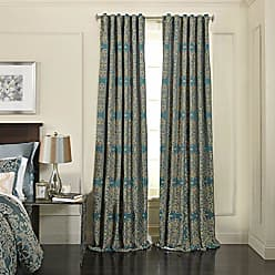 Ellery Homestyles BEAUTYREST Fashion Curtains for Bedroom - Alexina 52 x 63 Rod Pocket Single Panel Privacy Window Treatment Living Room, Peacock