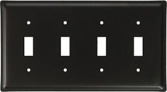 Village Wrought Iron 8.25 Inch Plain Quadruple Switch Cover