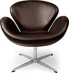 Kardiel SWAN-DBROWN-Aniline Trumpeter Chair Choco Brown Leather