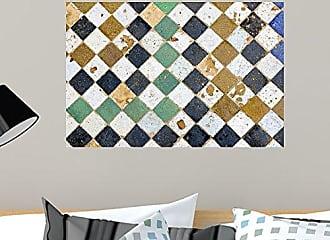 Wallmonkeys Traditional Old Moroccan Tiled Floor Wall Decal 24 W x 16 H - Medium
