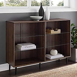Walker Edison WE Furniture AZS48NORDW Bookcase 48 Dark Walnut