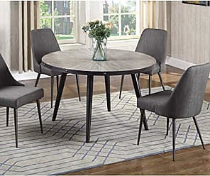 Best Master Furniture DX800 Marley Round Dining Table Only Weathered Grey