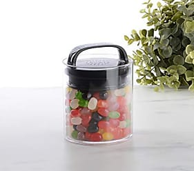 Prepara 3039-B Evak Fresh Saver Airless Canister, Black handle, Small/Short, Clear