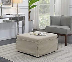 Convenience Concepts 143709FSBG Ottoman, Soft Beige Fabric