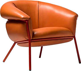 BD Barcelona Design Grasso Armchair In Orange Leather By Bd Barcelona