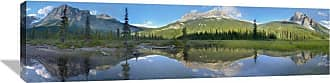 Global Gallery Panoramic View of Mt Burgess Reflected in Emerald Lake Yoho National Park British Columbia Canada Wall Art - GCS-397155-44-142