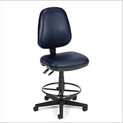 OFM 119-VAM-DK-605 Straton Series Anti-Microbial/Anti-Bacterial Vinyl Task Chair with Drafting Kit