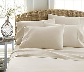 iEnjoy Home Becky Cameron ienjoy Home 6 Piece Double Brushed Microfiber Bed Sheet Set, Twin XL, Cream, TwinXL