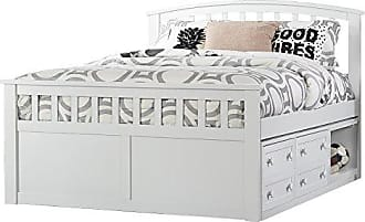 Hillsdale Furniture 2184CCFB Hillsdale Charlie Captains Bed with One Storage Unit, Full, White