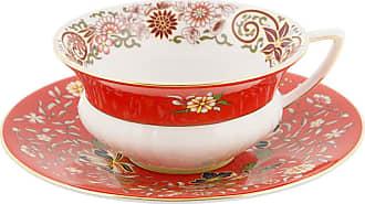 Wedgwood Wonderlust Teacup & Saucer - Crimson Orient