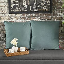 Christopher Knight Home 301613 Soyala Soft Plush Fabric Throw Pillows (Set of 2) (Dark Teal)