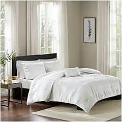 Jla Home JLA Home 4-Pcs Amari Seersucker Duvet Cover Set - White - Size:Full/Queen