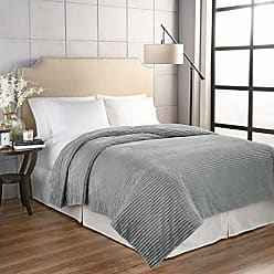 Ellery Homestyles Beautyrest 16927BEDDTWNGRE Giverny Anti-Microbial Technology Blanket, Twin, Grey