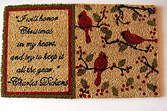 Geo Crafts Vinyl Back Dickens Doormat
