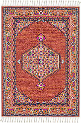 Surya Lawson Brick and Coral Updated Traditional Area Rug 93 x 121