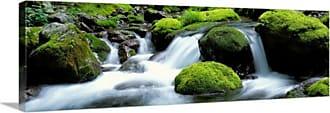 Great Big Canvas Kyoto Japan Mountain Stream Canvas Wall Art Print - 82171_24_36X12_NONE