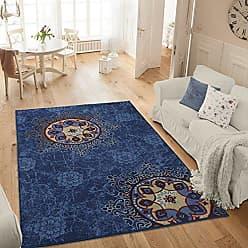 Ottomanson Studio Collection Medallion Design Area Rug, 50 X 60, Blue