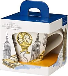 Villeroy & Boch New Wave Caffé Cities of the World Mug New York By Villeroy & Boch - Premium Porcelain - Made in Germany - Dishwasher and Microwave Safe - Gift Boxed - 11.75 Ounce Capacity