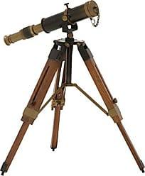Benzara Deco 79 Artistic Brass Wood Telescope