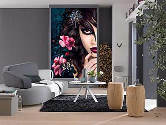 Ideal Decor Midnight Rose Wall Mural, Womens - DM637