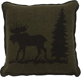 Wooded River Moose I Animal Print Indoor Pillow - WD27070