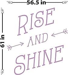 The Decal Guru Rise and Shine Wall Decal (Lilac, 61 (H) X 57 (W))