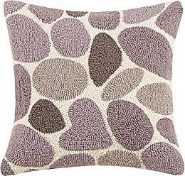 Peking Handicraft Lucky Rocks Hook Pillow, Grey