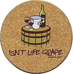 Thirstystone Isnt Life Grape Cork Coaster Set